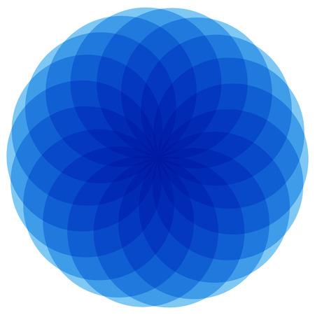 basic shape: Basic mandala-like element. Monochrome abstract shape with a group of overlapping circles. (Flattened.)