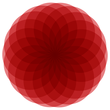 centric: Basic mandala-like element. Monochrome abstract shape with a group of overlapping circles. (Flattened.)