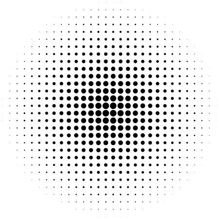 モノクロ抽象グラフィック DTP、プリプレスや一般的な概念の要素ハーフトーン サークル。  イラスト・ベクター素材