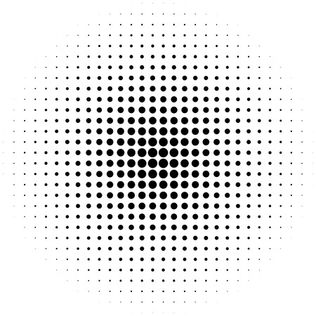 Circle halftone element, monochrome abstract graphic for DTP, prepress or generic concepts.