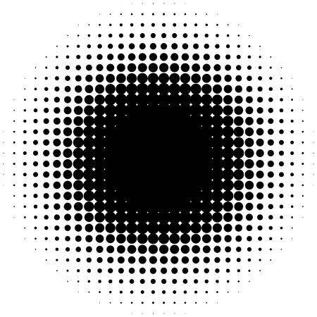speckled: Circle halftone element, monochrome abstract graphic for DTP, prepress or generic concepts.
