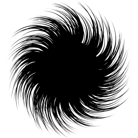 colorless: Abstract monochrome spirally, spiral element. Twisted radial shape. Colorless abstract graphic.