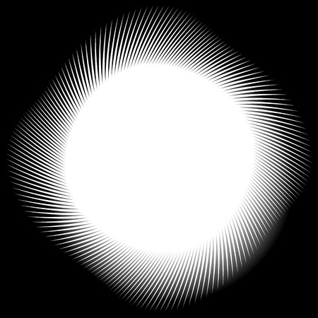 tweak: Abstract monochrome spirally, spiral element, twisted radial shape.
