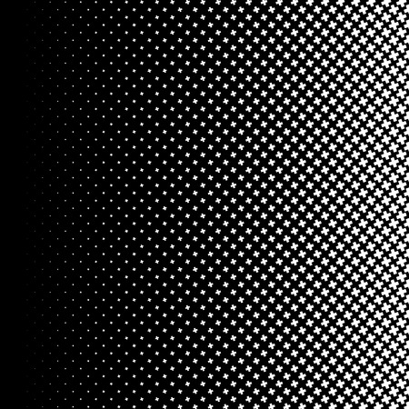 criss: Halftone like element of crosses. Monochromatic abstract image.