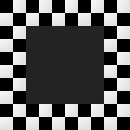 pictureframe: Checkered frame, border. Empty squarish picture, photo frame with squares for racing photos or generic use Illustration