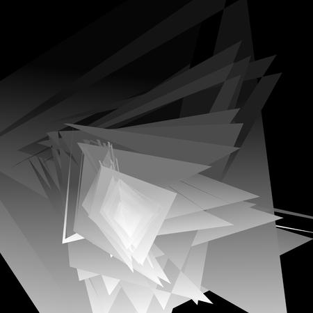 edgy: Artistic geometric image - Random angular, edgy shapes overlapping. Modern geometric art illustration