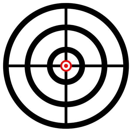cross hair: Cross hair, target mark, reticle. Graphics for hunting, accuracy, firearm, aiming, targeting concepts.