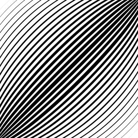 protuberant: Diagonal lines, stripes with convex distortion,