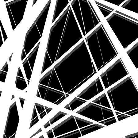 oblique line: Abstract, irregular lines pattern, background. Monochrome geometric art. Illustration
