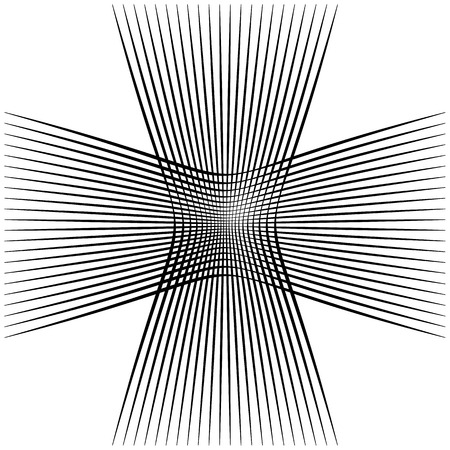 intersecting: Abstract intersecting lines, grid mesh pattern element isolated on white Illustration