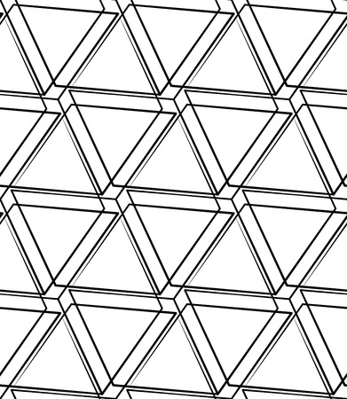 grillage: Grid, mesh seamless monochrome pattern. Intersecting lines. Illustration