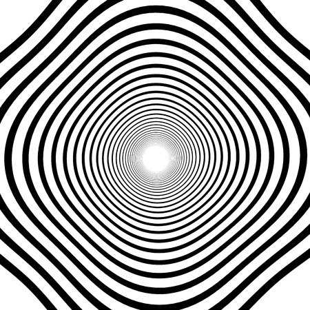 oscillate: Abstract spirally background  element. Abstract monochrome vortex, whorl, twirl graphic. Circular lines pattern.