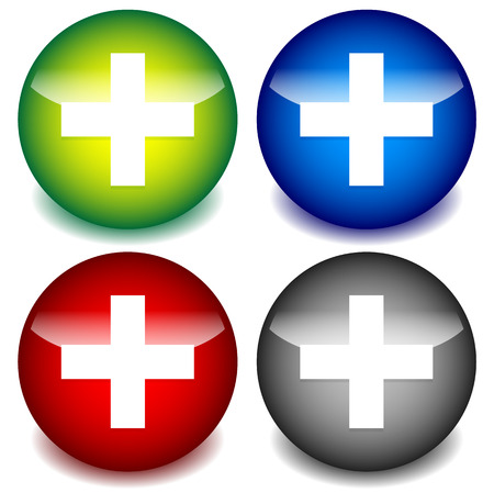 infirmary: Plus, cross icons for healthcare, first-aid concepts