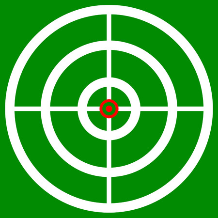 firearm: Cross hair, target mark, reticle. Graphics for hunting, accuracy, firearm, aiming, targeting concepts.