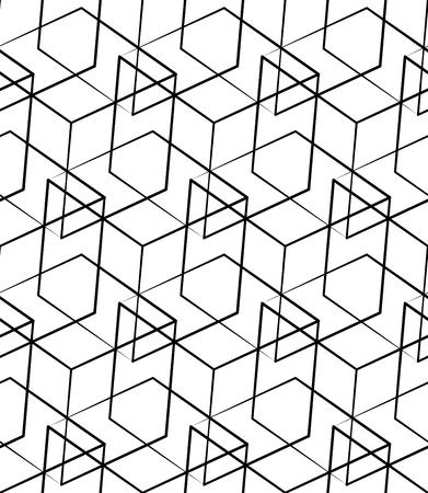 Siatka, siatki szwu monochromatyczny wzór. Przecinających się linii. Ilustracje wektorowe