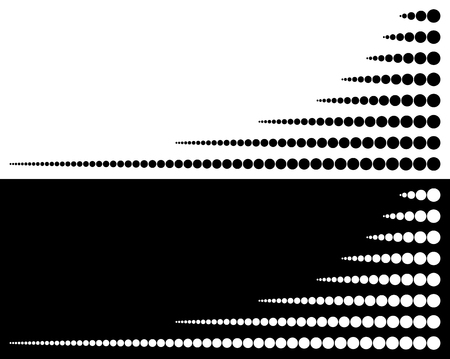 horizontal lines: Set of circles from big to small in horizontal lines