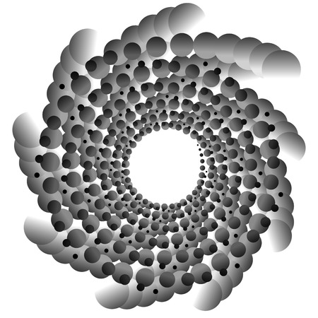 tweak: Abstract spirally monochrome element with overlapping circles
