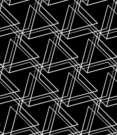 intersecting: Grid, mesh seamless monochrome pattern. Intersecting lines. Illustration