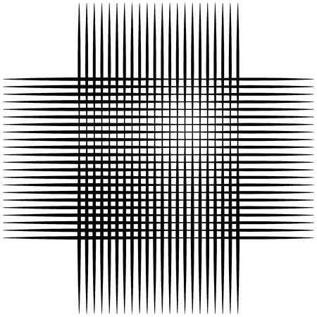 perpendicular: Abstract intersecting lines, grid mesh pattern element isolated on white Illustration