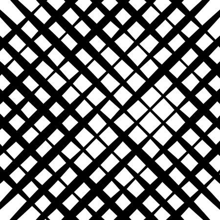 Grid mesh pattern - Irregular intersecting straight lines. monochrome abstract geometric illustration