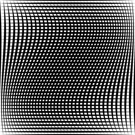 ripply: Abstract grid, mesh pattern with distortion effect. Abstract monochrome pattern, artistic geometric graphic.