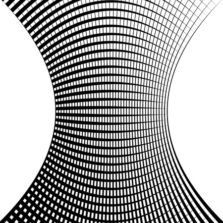 squeeze shape: Grid, mesh geometric pattern. Intersecting lines abstract geometric element. Illustration