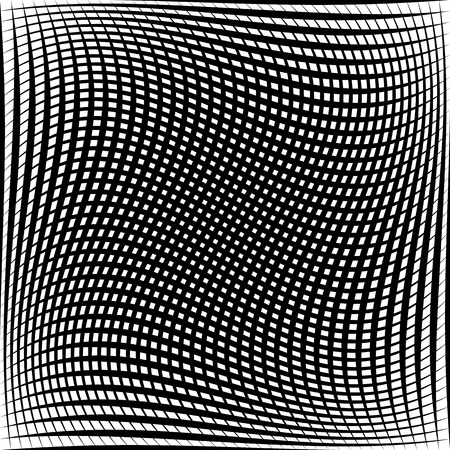 tweak: Abstract grid, mesh pattern with distortion effect. Abstract monochrome pattern, artistic geometric graphic.