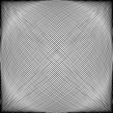 globular: Spherical, globular intersecting lines. Grid, mesh with convex distortion