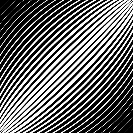 convex: Diagonal lines, stripes with convex distortion,
