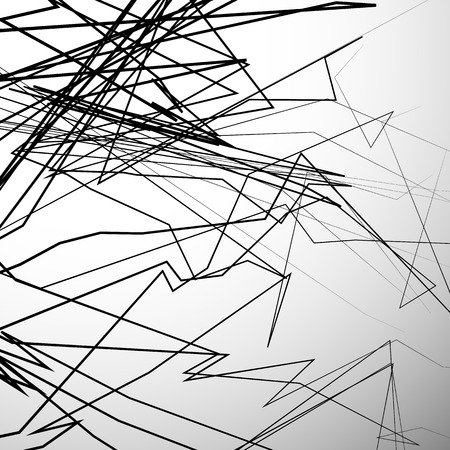 angular: Abstract edgy, angular lines artistic black and white background - Random dynamic lines.