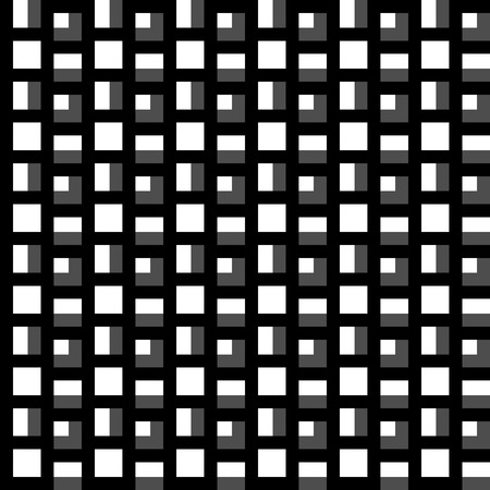 Repeatable pattern with squares. Geometric cellular grid, mesh pattern. Illustration