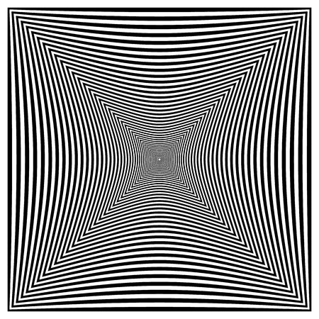 alternating: Abstract contrasty distorted shape with alternating black and white radiating lines.