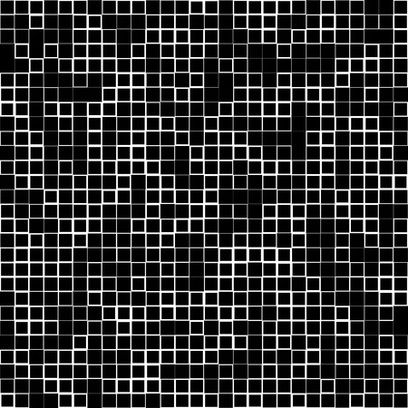 revetment: Mosaic pattern with random squares - Black and white geometric texture