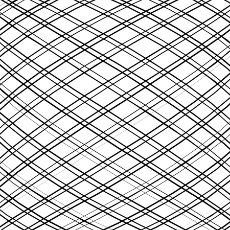 protuberant: Grid, mesh, intersecting lines pattern with convex distortion. Lines are irregular.