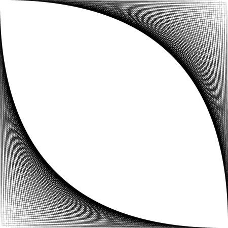 mesh, grid spreading from corner. fine texture of intersecting lines. Ilustração