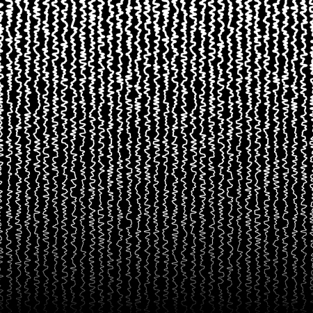snaky: Vertical jagged, irregular lines pattern. Abstract monochrome random lines. (Horizontally repeatable.)