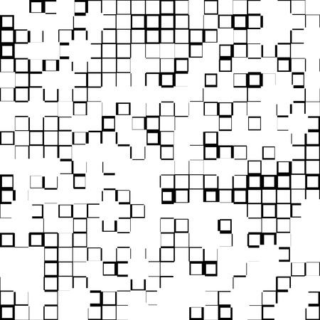 asymmetric: Random mosaic background w squares varying in size Illustration