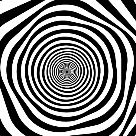 eyestrain: Abstract spirally stripes background, optical, op art pattern. Illustration