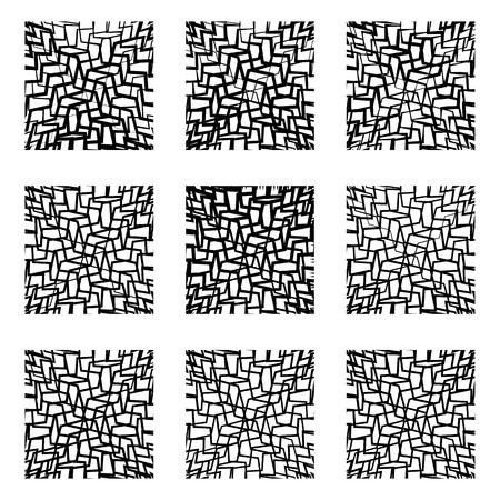 irregular: Irregular lines background, pattern, abstract design element set