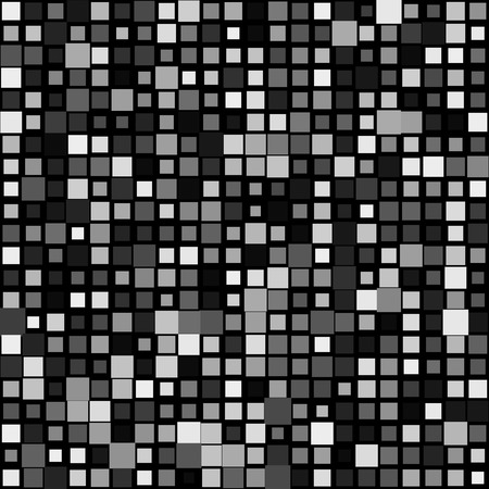 varying: Random mosaic background w squares varying in size Illustration