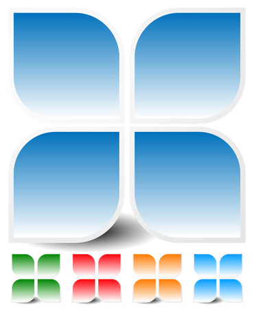 generic: Generic icon, design element in four colors Illustration