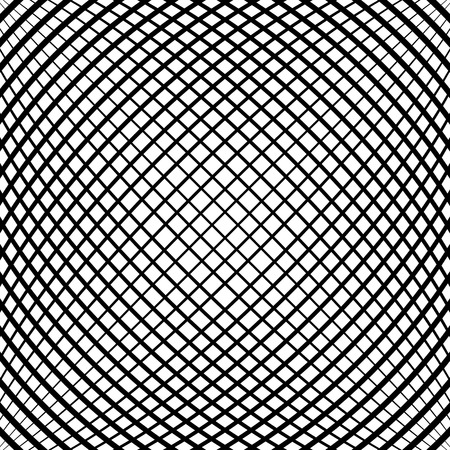 protuberant: Grid, mesh pattern with slight convex effect. Square format abstract lattice, grating backdrop Illustration
