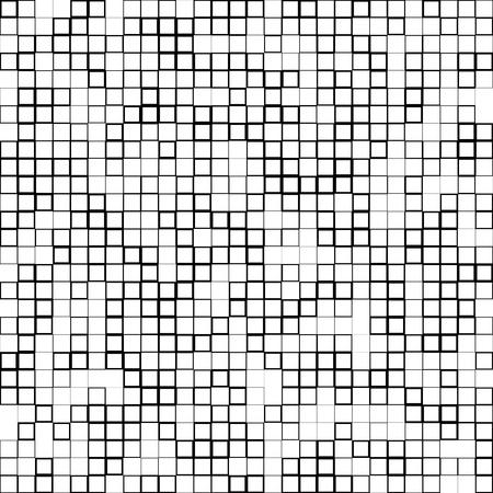 quadrant: Mosaic pattern with random squares - Black and white geometric texture