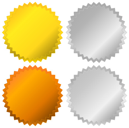 gold silver bronze: Gold, silver, bronze and platinum badges, seals, buttons