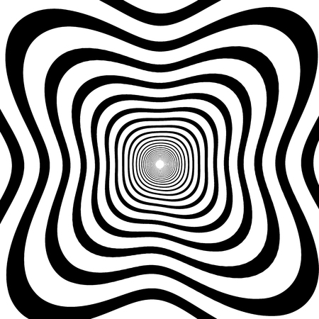 hypnotism: Abstract spirally background  element. Abstract monochrome vortex, whorl, twirl graphic. Circular lines pattern.