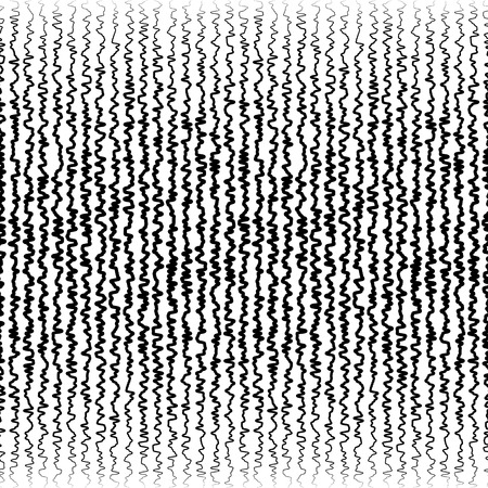 wriggle: Vertical jagged, irregular lines pattern. Abstract monochrome random lines. (Horizontally repeatable.)