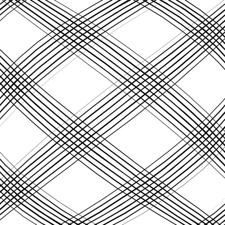 camber: Grid, mesh, intersecting lines pattern with convex distortion. Lines are irregular.