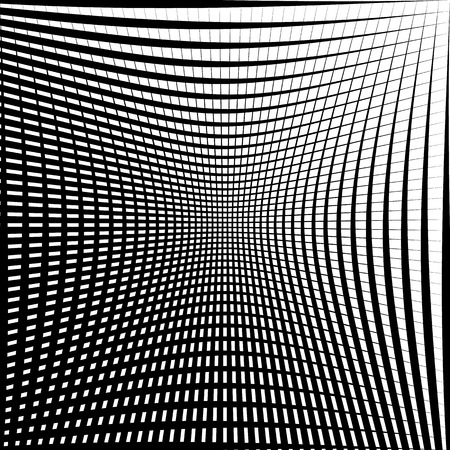 squeeze shape: Abstract grid, mesh texture with distortion effect. Abstract monochrome texture, pattern.