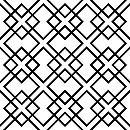 reticulated: Geometric grid, mesh pattern with intersecting lines - Abstract grille, reticulated, cellular pattern. Illustration