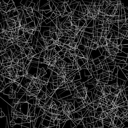 dense: Dense intersecting lines. Abstract geometric, edgy graphic. Monochrome geometric art.